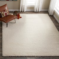 Clay Alder Home Coldwater Cozy Plush Beige Shag Rug (8' x 10')