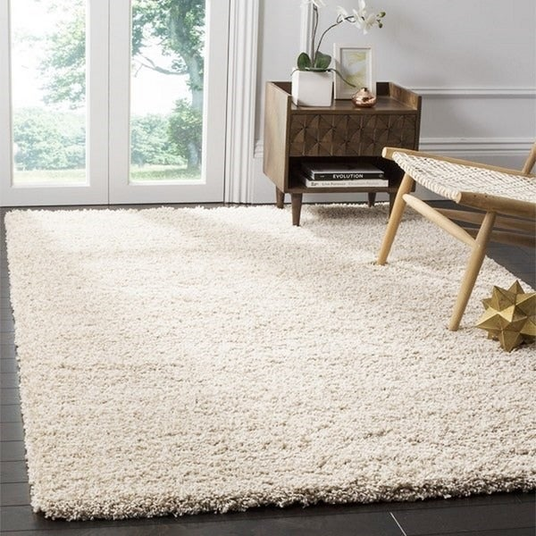Safavieh california cozy plush beige shag rug 8 39 x 10 for 12x15 living room