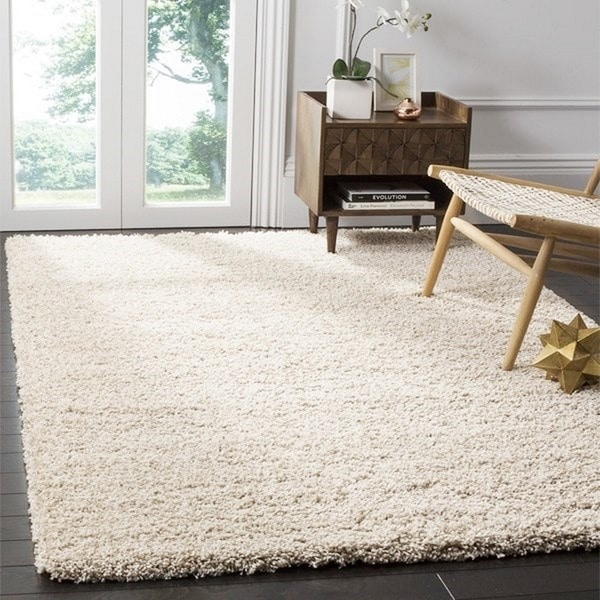 Safavieh California Cozy Plush Beige Shag Rug (8' x 10')