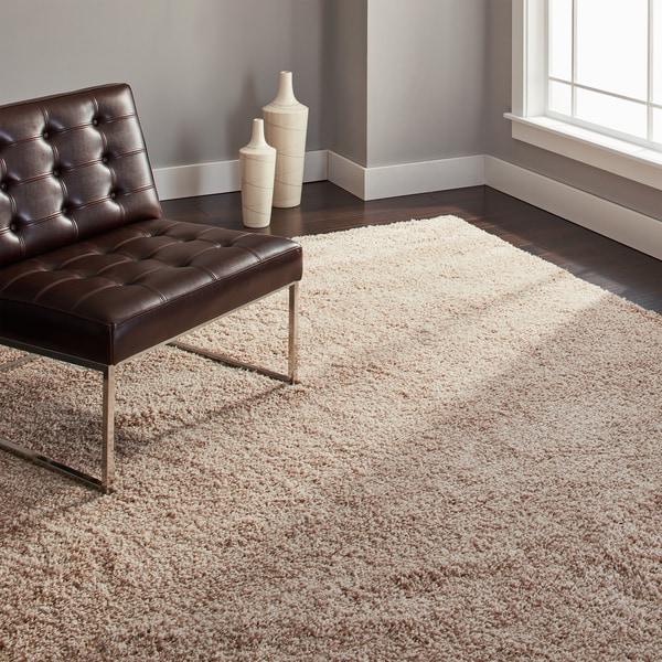 Safavieh California Cozy Solid Beige Shag Rug (8' x 10')