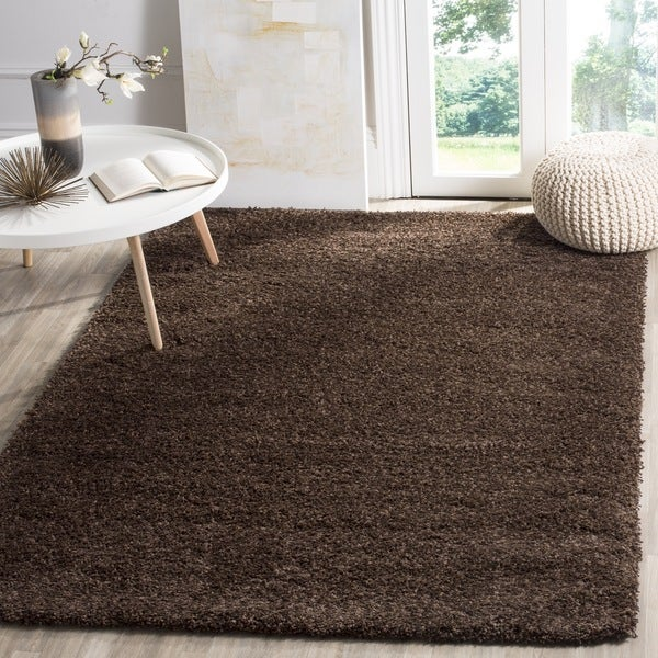 Safavieh California Cozy Plush Brown Shag Rug (4' x 6')