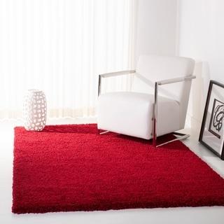 safavieh california cozy plush red shag rug 6u0027 7 square quick view