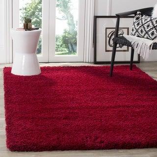 Safavieh California Cozy Plush Red Shag Rug (4' x 6')