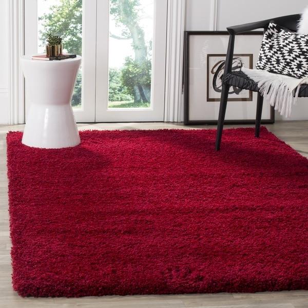 Safavieh California Cozy Plush Red Shag Rug 4 X 6