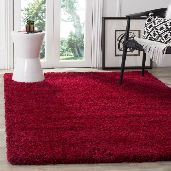 Safavieh California Cozy Plush Red Shag Rug (5'3 x 7'6)