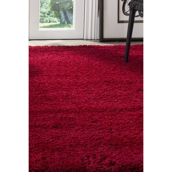 safavieh california cozy plush red shag rug 8u0027 x 10u0027 free shipping today