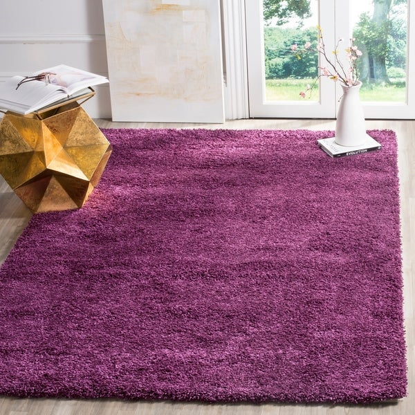 Shop Safavieh California Cozy Plush Purple Shag Rug