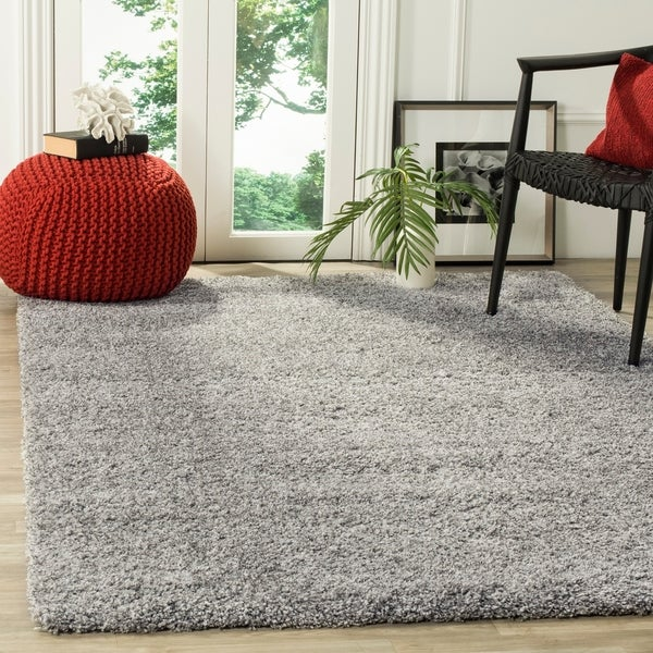 Safavieh California Cozy Plush Silver Shag Rug - 5'3' x 7'6'