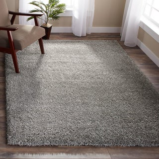 Clay Alder Home Coldwater Cozy Plush Silver Shag Rug (8' x 10')