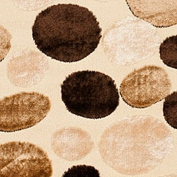 Safavieh Miami Shag Contemporary Silken-Embossed Dotted Cream Rug (5'3 x 7'6) - Thumbnail 2