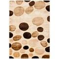 Safavieh Miami Shag Contemporary Silken-Embossed Dotted Cream Rug - 5'3' x 7'6'