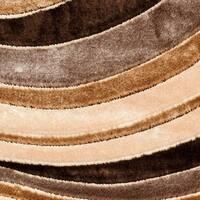 Safavieh Miami Shag Contemporary Silken-Embossed Beige/ Brown Shag Rug - 4' x 6'