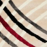 "Safavieh Miami Shag Contemporary Silken-Embossed White Shag Rug - 5'-3"" x 7'-6"""