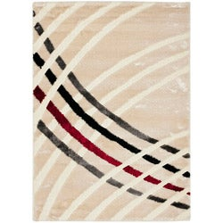 Safavieh Miami Shag Contemporary Silken-Embossed White Shag Rug (8' x 10')