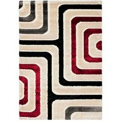 Safavieh Miami Shag Contemporary Silken-Embossed White Shag Rug (5'3 x 7'6)