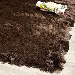 Safavieh Silken Paris Shag Chocolate Shag Rug (2' x 3')