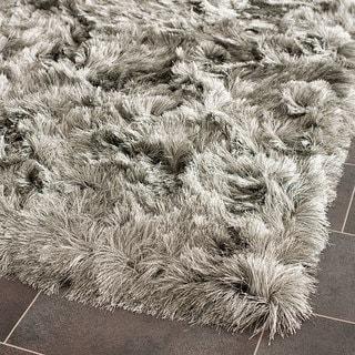 Safavieh Handmade Silken Glam Paris Shag Silver Rug (2' x 3')
