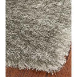 Safavieh Handmade Silken Glam Paris Shag Silver Polyester Rug (3' x 5')