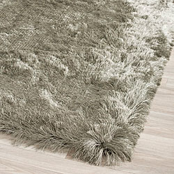 Safavieh Handmade Silken Glam Paris Shag Titanium Polyester Rug (2' x 3')