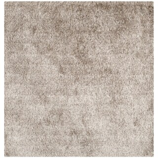 Safavieh Handmade Silken Glam Paris Shag Sable Brown Rug (2' x 3')