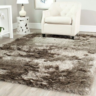 Safavieh Handmade Silken Glam Paris Shag Sable Brown Rug (5' x 7')