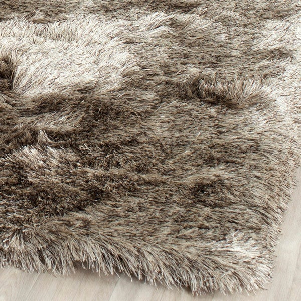 safavieh handmade silken glam paris shag sable brown rug 5u0027 x 7u0027 free shipping today 5u0027 x 8u0027