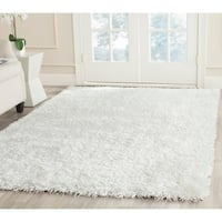 Safavieh Handmade New Orleans Shag Off-White Textured Polyester Area Rug - 8' x 10'