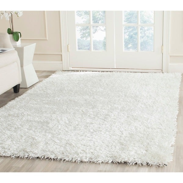 Safavieh Handmade New Orleans Shag Off-White Textured Polyester Area Rug (8' x 10')