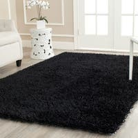 Safavieh Handmade New Orleans Shag Black Textured Area Rug - 4' x 6'