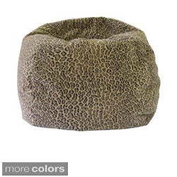 Gold Medal Jumbo Animal Print Round Bean Bag Chair