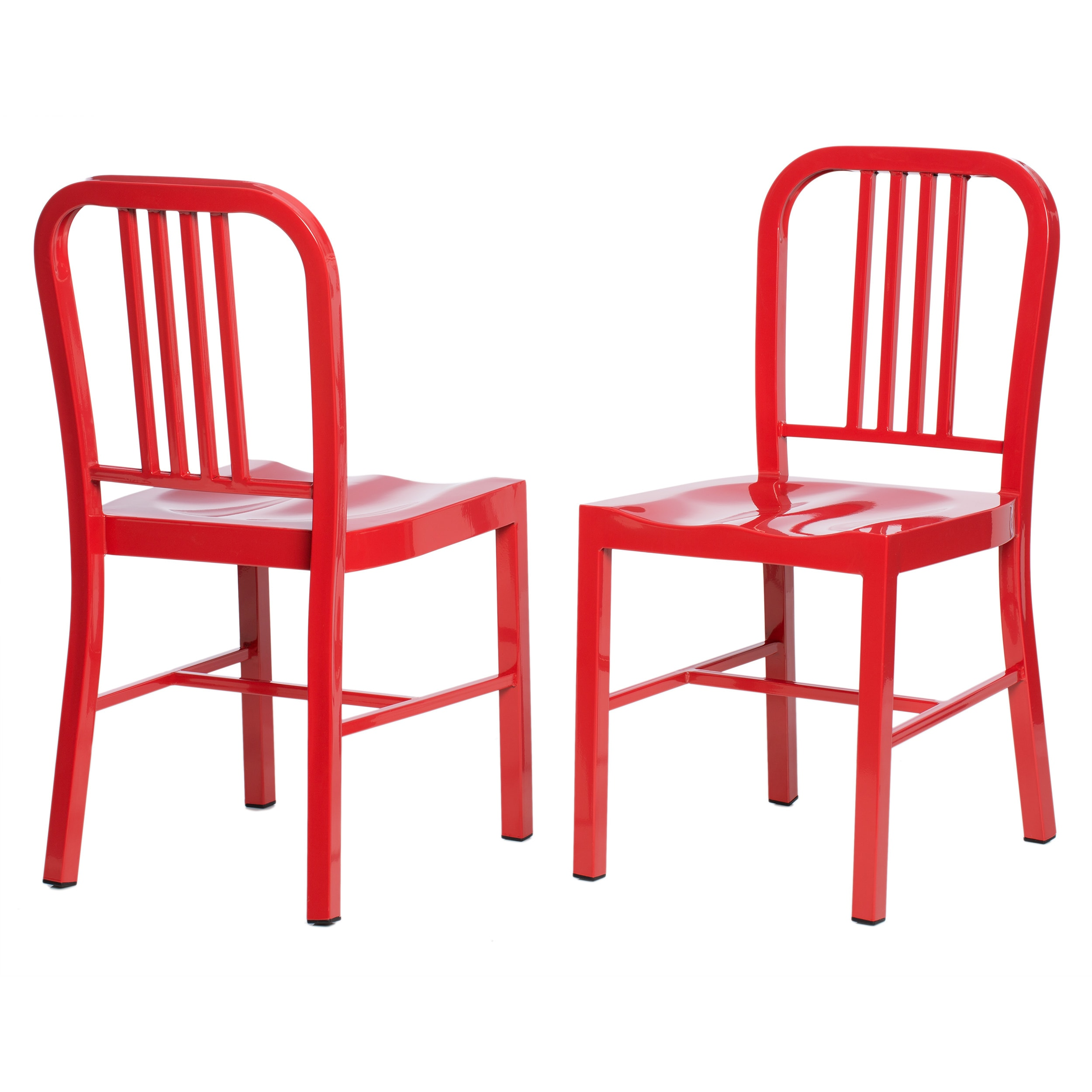 Picture of: Red Metal Dining Chairs Set Of 2 Overstock 5954034