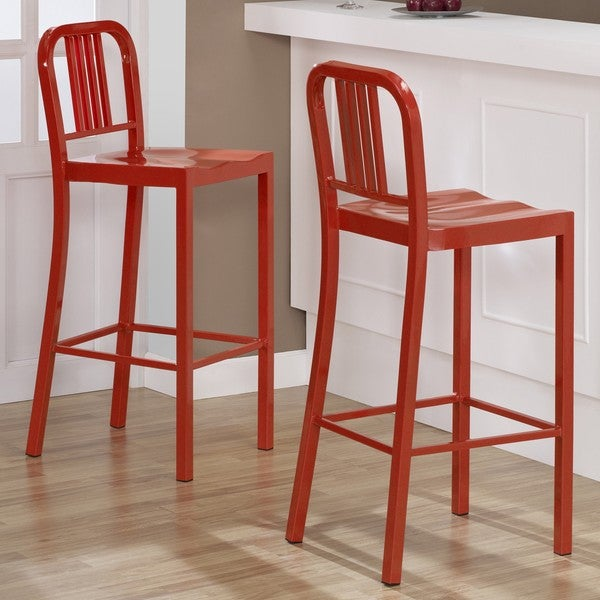 Red Metal Bar Stools Set of 2 Free Shipping Today  : Red Metal Bar Stools Set of 2 afd921e7 5fe2 44c1 ba32 f431fe020d1c600 from www.overstock.com size 600 x 600 jpeg 69kB