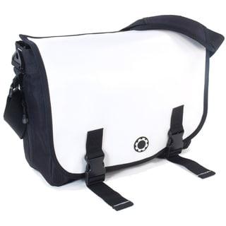 DadGear Messenger Diaper Bag, Wicked White