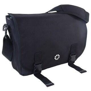 DadGear Messenger Diaper Bag in Basic Black