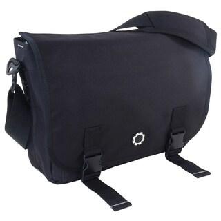 DadGear Messenger Diaper Bag, Basic Black
