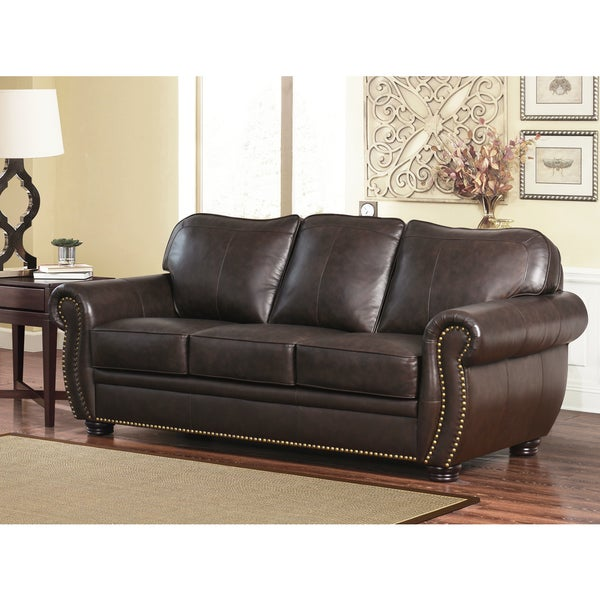 Top Grain Leather Living Room Set Costco Messina Brown Bonded Leather Sectional With Ottoman