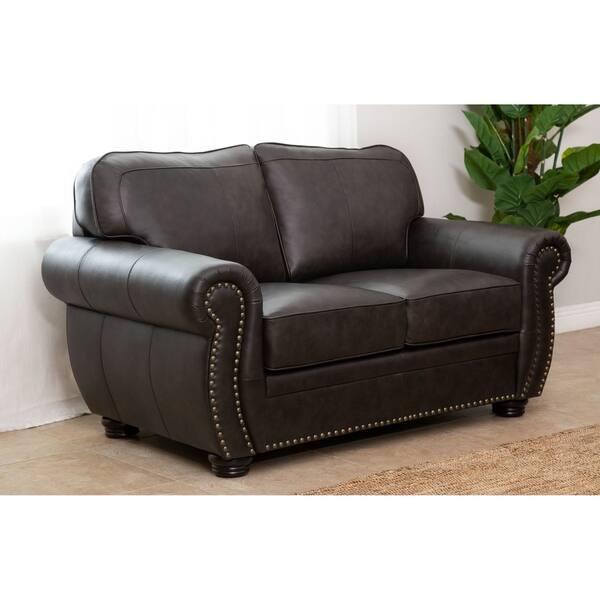 Prime Shop Abbyson Richfield Brown Top Grain Leather 3 Piece Pabps2019 Chair Design Images Pabps2019Com
