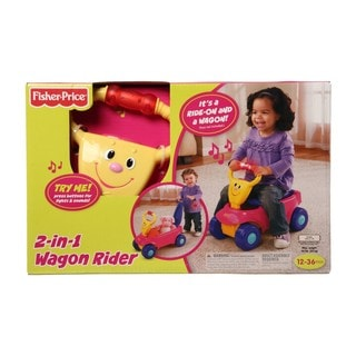 Fisher Price 2-in-1 Red Wagon Rider Ride-on