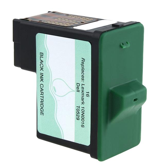 Insten Black Ink Cartridge for Dell 1/ Lexmark 16/ 17