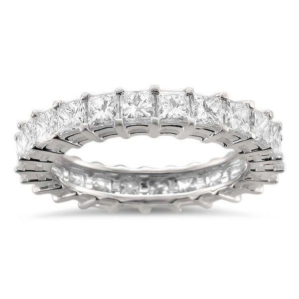 Montebello 14k White Gold 3 1/5ct TDW Princess Diamond Eternity Band