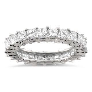 Montebello 14k White Gold 3 1/5ct TDW Princess Diamond Eternity Band