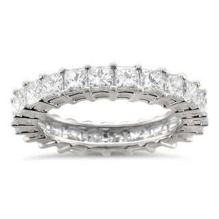 Montebello 14k White Gold 3 1/5ct TDW Princess Diamond Eternity Band (H-I, SI1-SI2)