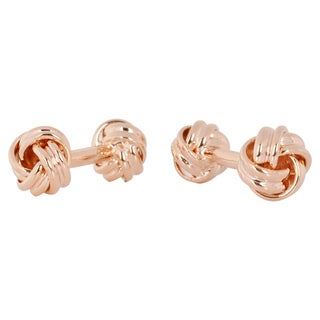 Cuff Daddy Rose Goldplated Double Knot Cuff Links