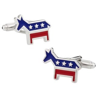 Cuff Daddy Silvertone Democrat Donkey Cuff Links