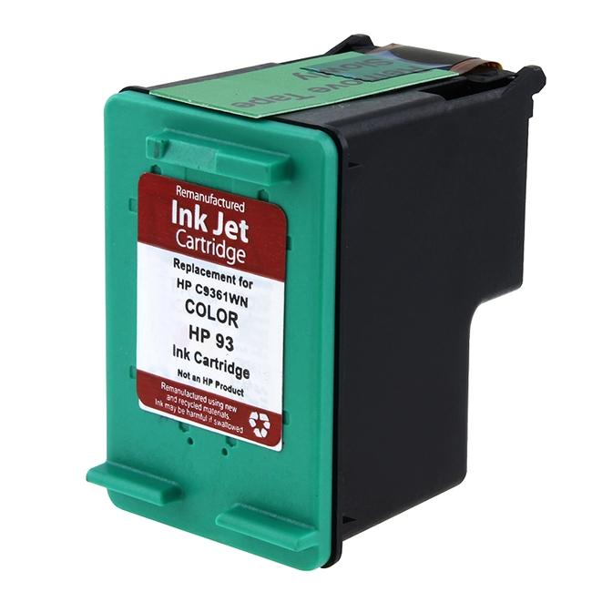 Insten Color Remanufactured Ink Cartridge Replacement for HP C9361W/ 93 - Thumbnail 0