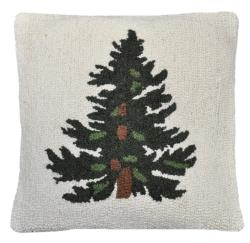 Cottage Home Hooked Tree Decorative Pillow - Thumbnail 1