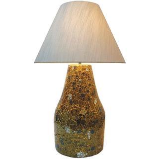 Golden Sunshine Glass 1-light Mosaic Table Lamp