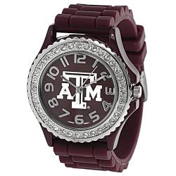 Geneva Platinum Women's Rhinestone-accented Texas A&M Watch