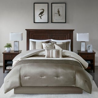 Madison Park Eastridge Natural 7-piece Comforter Set