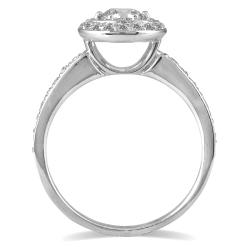 Marquee Jewels 14k White Gold 3/4ct TDW Diamond Halo Engagement Ring (I-J, I1-I2) - Thumbnail 1